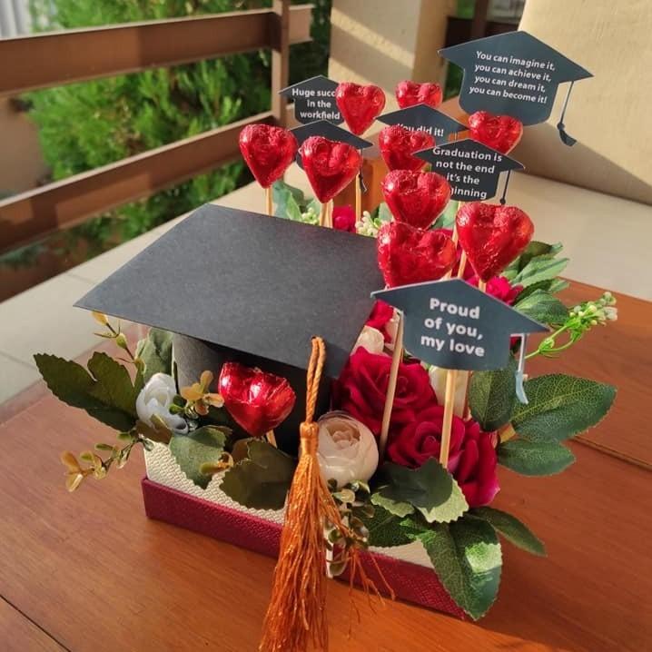 Подарок за дипломирање со капа на отварање