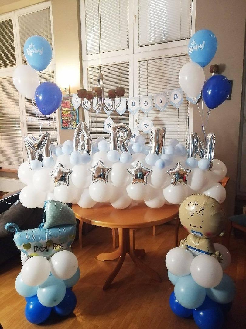 Балони за добредојде на бебе
