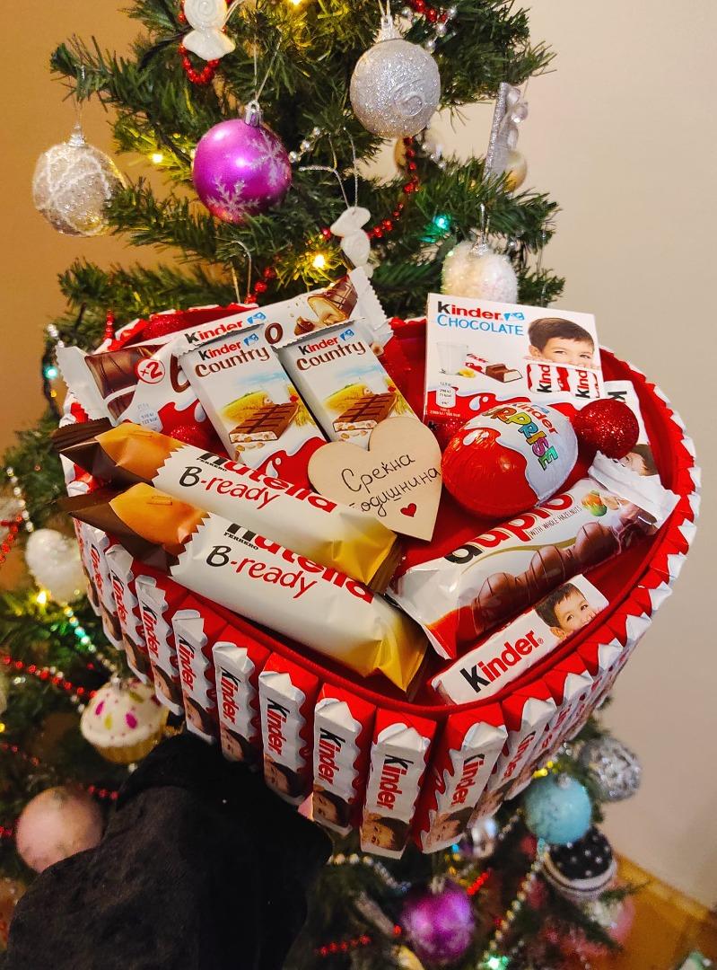 Подарок срце со чоколатца за годишнина