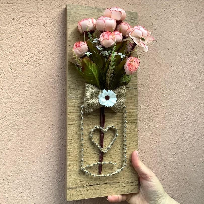Мини дрвена слика за ѕид